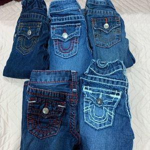5 jeans size 2t True Religion toddler boy bundle